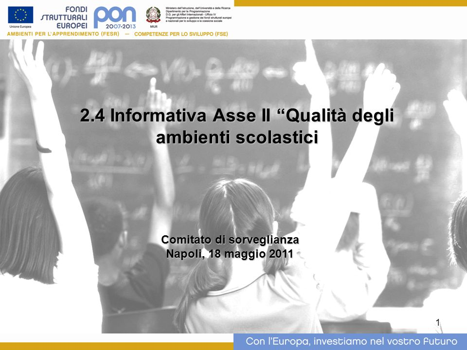 2.4 Informativa Asse II Qualità degli ambienti scolastici