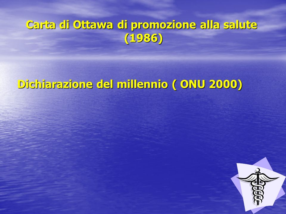 Carta di Ottawa di promozione alla salute (1986)