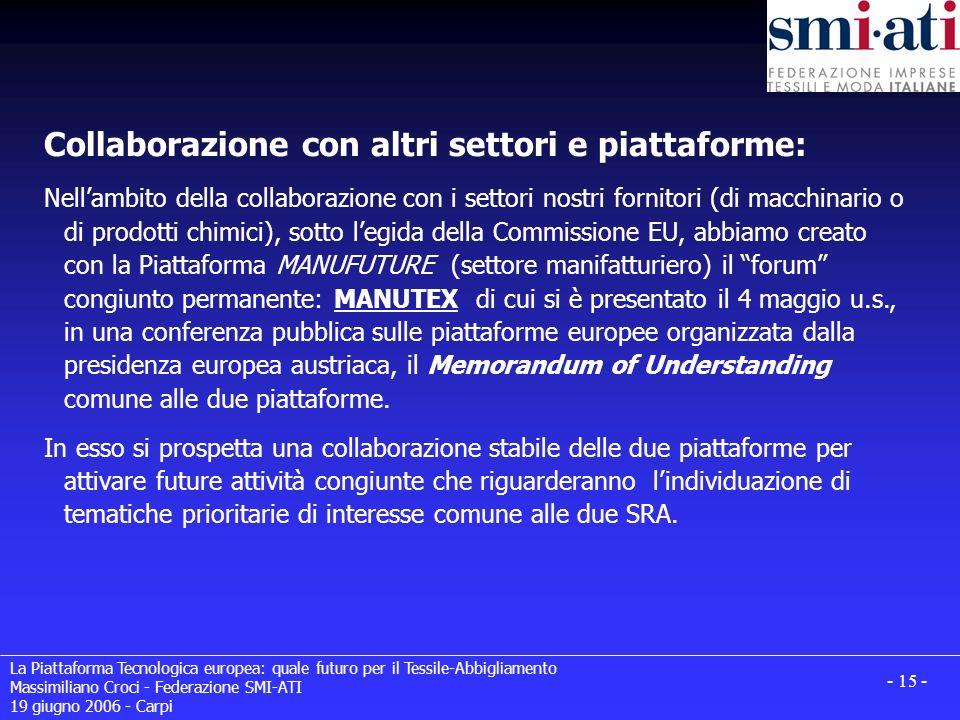 Collaborazione con altri settori e piattaforme:
