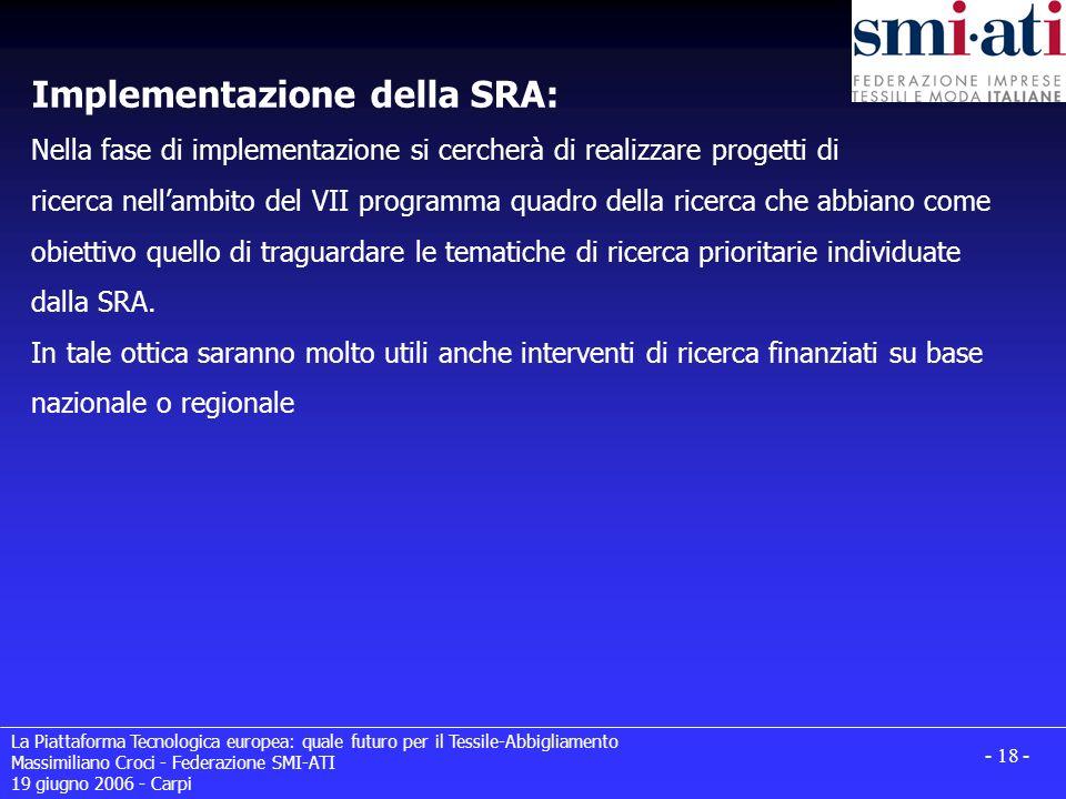 Implementazione della SRA: