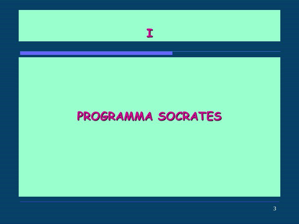 I PROGRAMMA SOCRATES