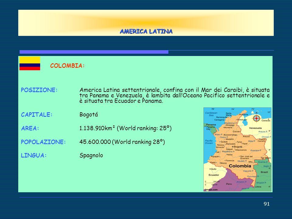AMERICA LATINA COLOMBIA: