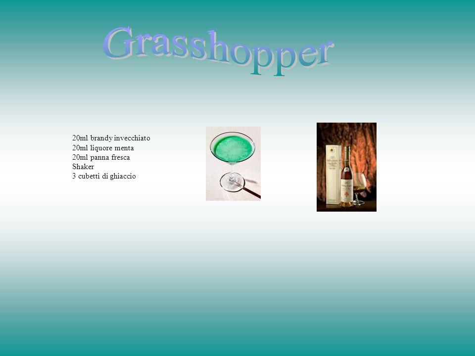 Grasshopper 20ml brandy invecchiato 20ml liquore menta