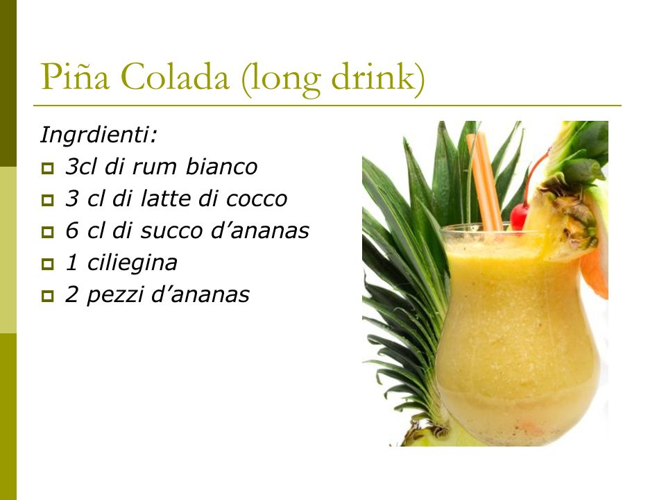 Piña Colada (long drink)