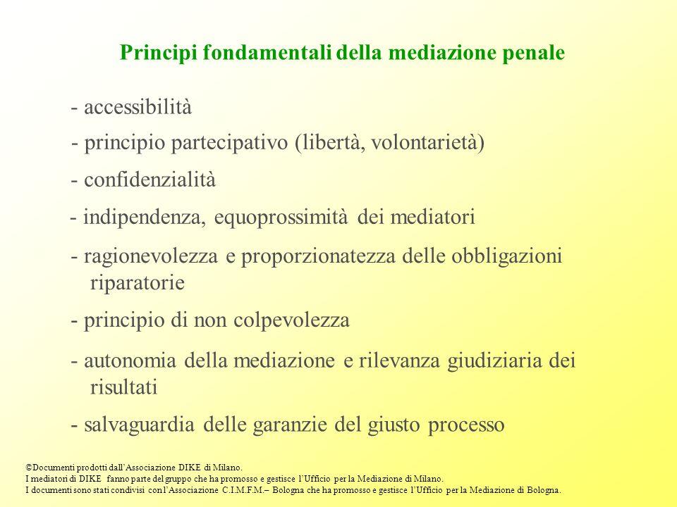 Principi fondamentali della mediazione penale