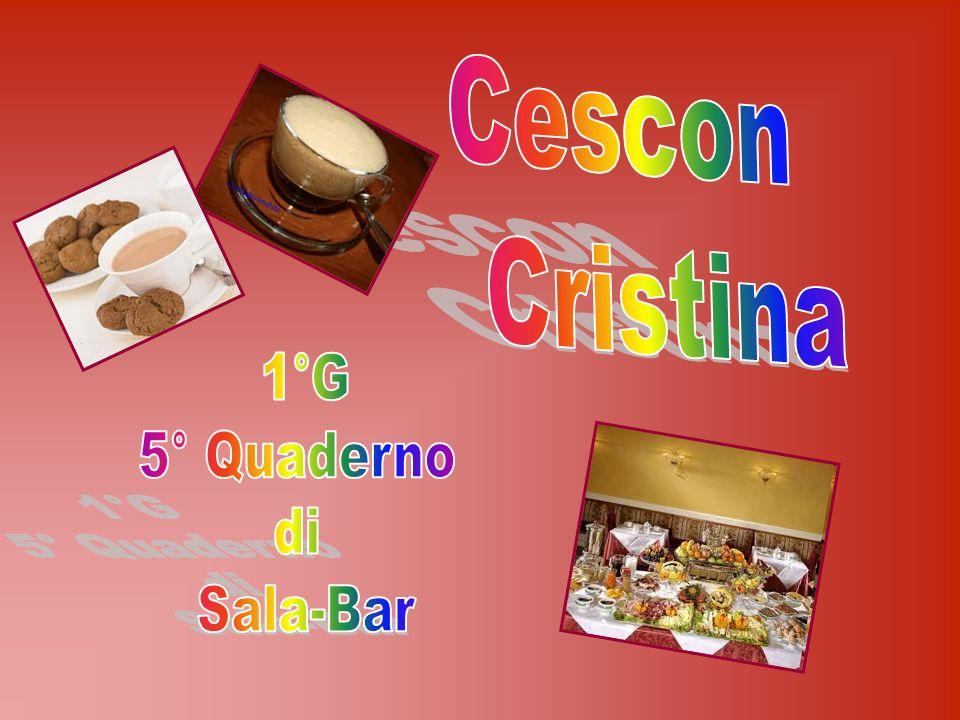 Cescon Cristina 1°G 5° Quaderno di Sala-Bar