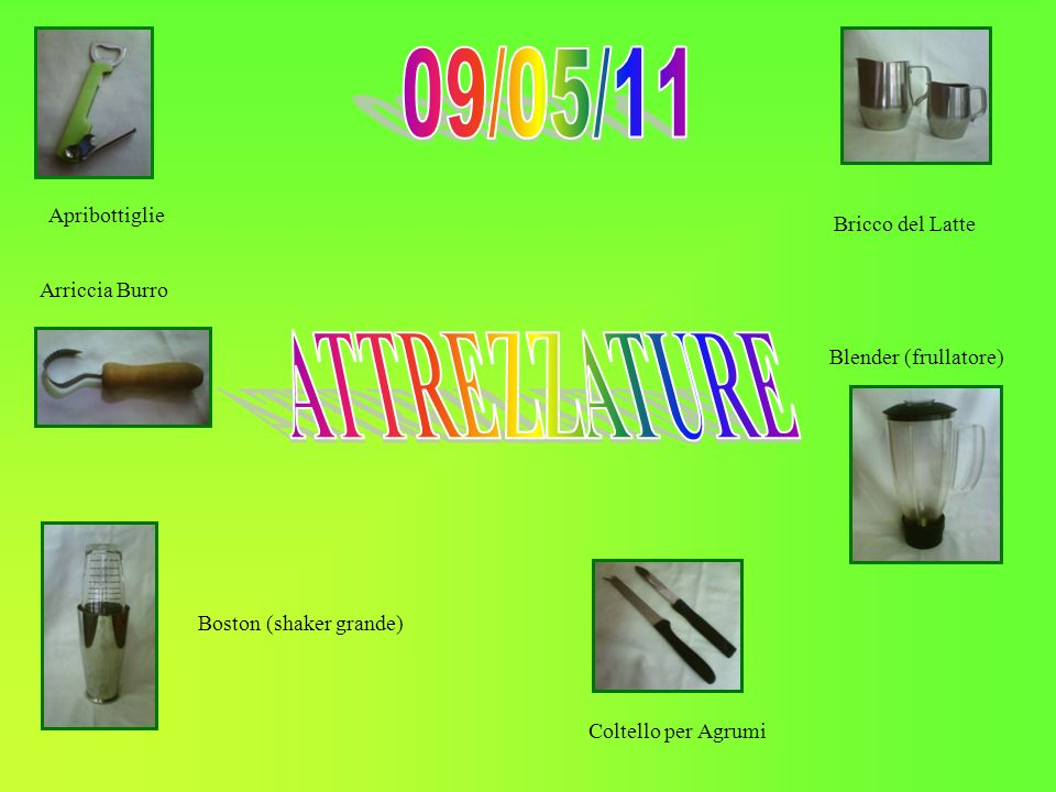 09/05/11 ATTREZZATURE Apribottiglie Bricco del Latte Arriccia Burro