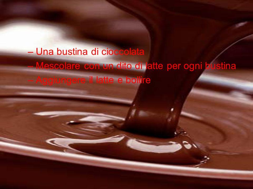 Una bustina di cioccolata