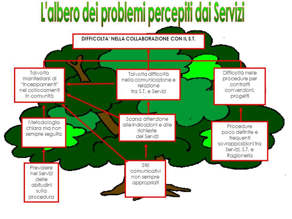 L albero dei problemi percepiti dai Servizi