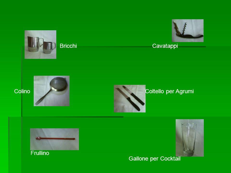 Bricchi Cavatappi Colino Coltello per Agrumi Frullino Gallone per Cocktail
