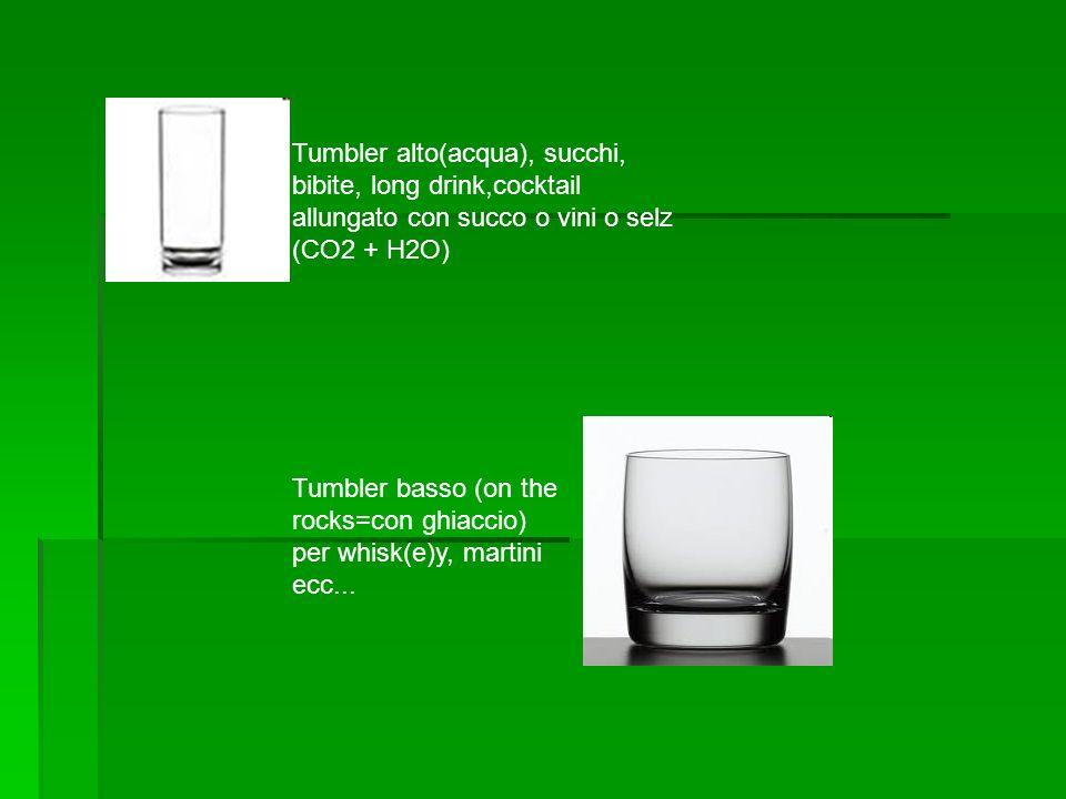Tumbler alto(acqua), succhi, bibite, long drink,cocktail allungato con succo o vini o selz (CO2 + H2O)
