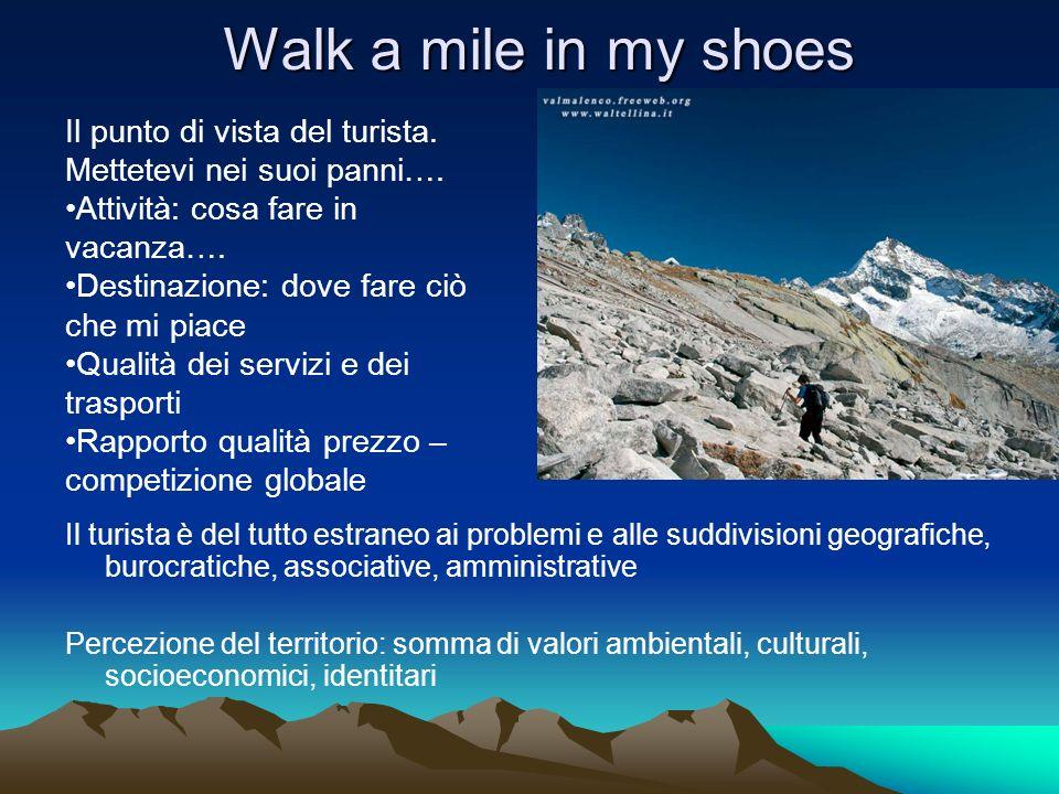 Walk a mile in my shoes Il punto di vista del turista. Mettetevi nei suoi panni…. Attività: cosa fare in vacanza….