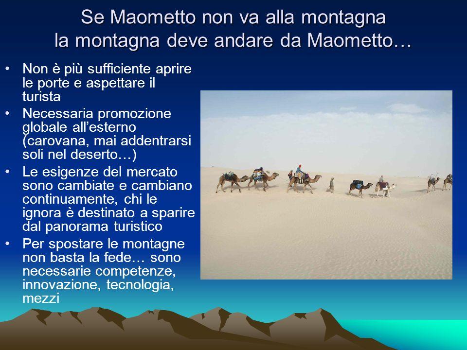Se Maometto non va alla montagna la montagna deve andare da Maometto…