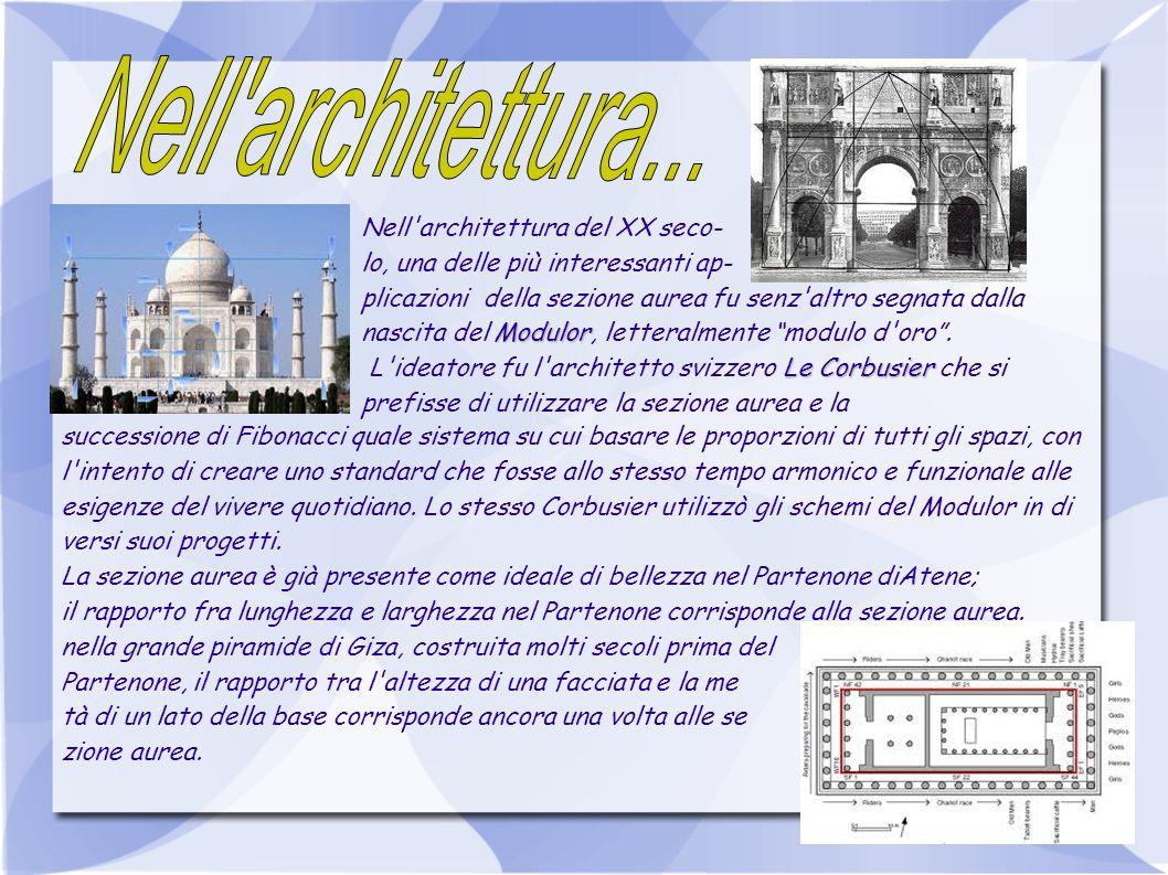 Nell architettura... Nell architettura del XX seco-