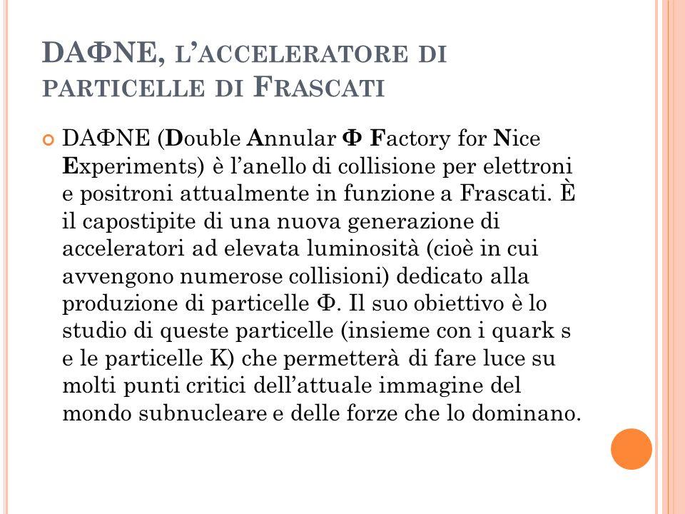 DAΦNE, l'acceleratore di particelle di Frascati