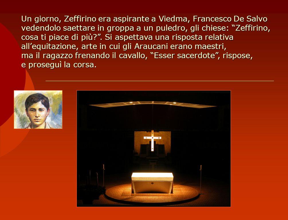 Un giorno, Zeffirino era aspirante a Viedma, Francesco De Salvo vedendolo saettare in groppa a un puledro, gli chiese: Zeffirino, cosa ti piace di più .