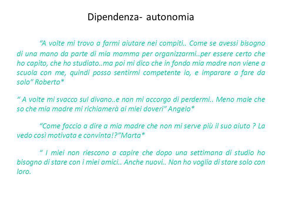 Dipendenza- autonomia