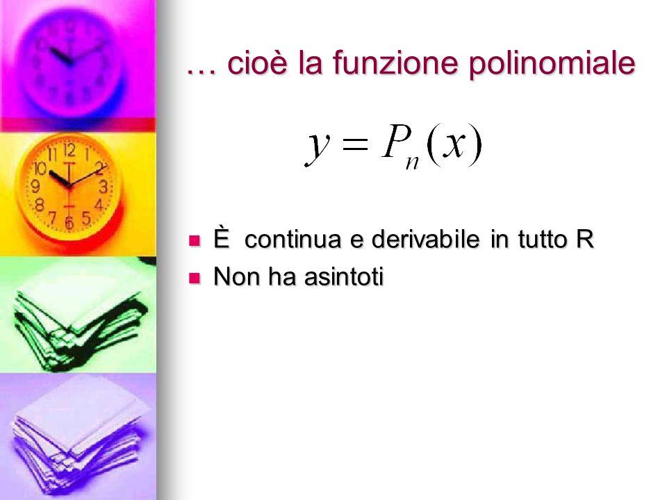 … cioè la funzione polinomiale