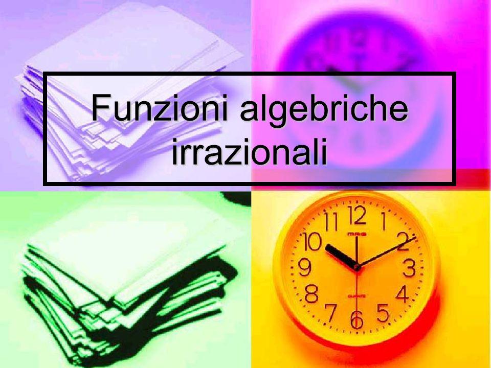 Funzioni algebriche irrazionali