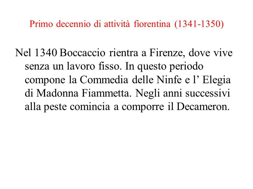 Primo decennio di attività fiorentina (1341-1350)