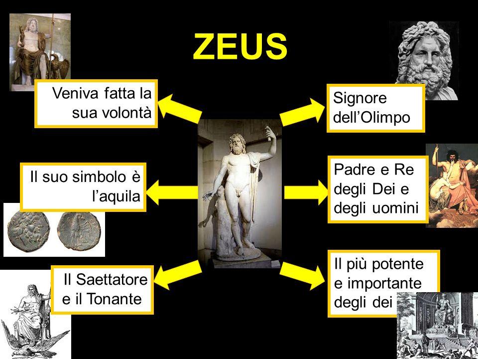 ZEUS Veniva fatta la sua volontà Signore dell'Olimpo