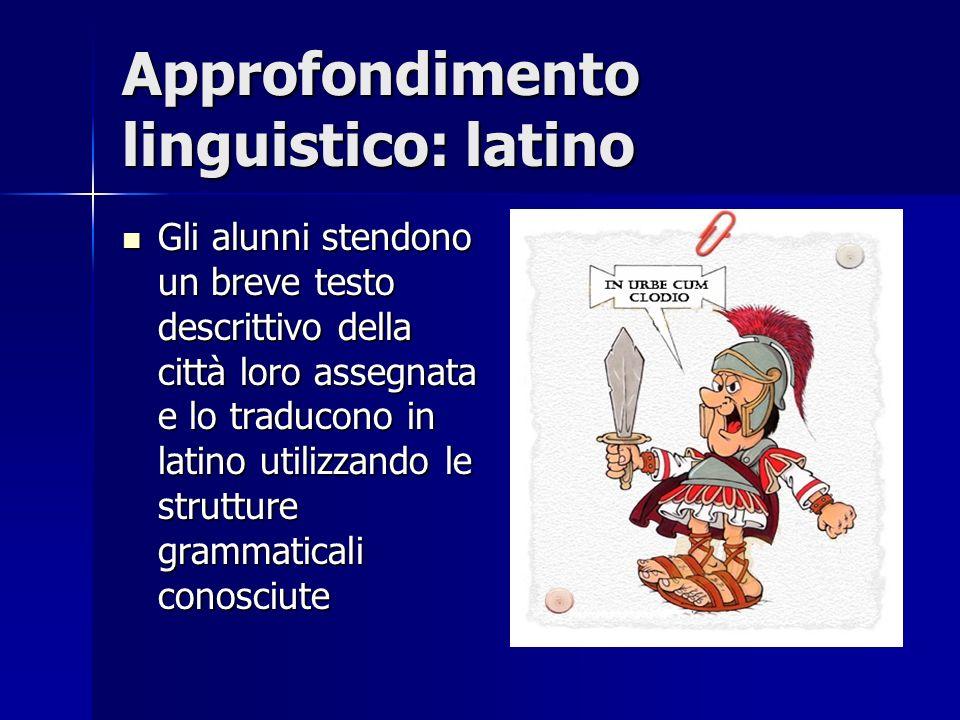 Approfondimento linguistico: latino