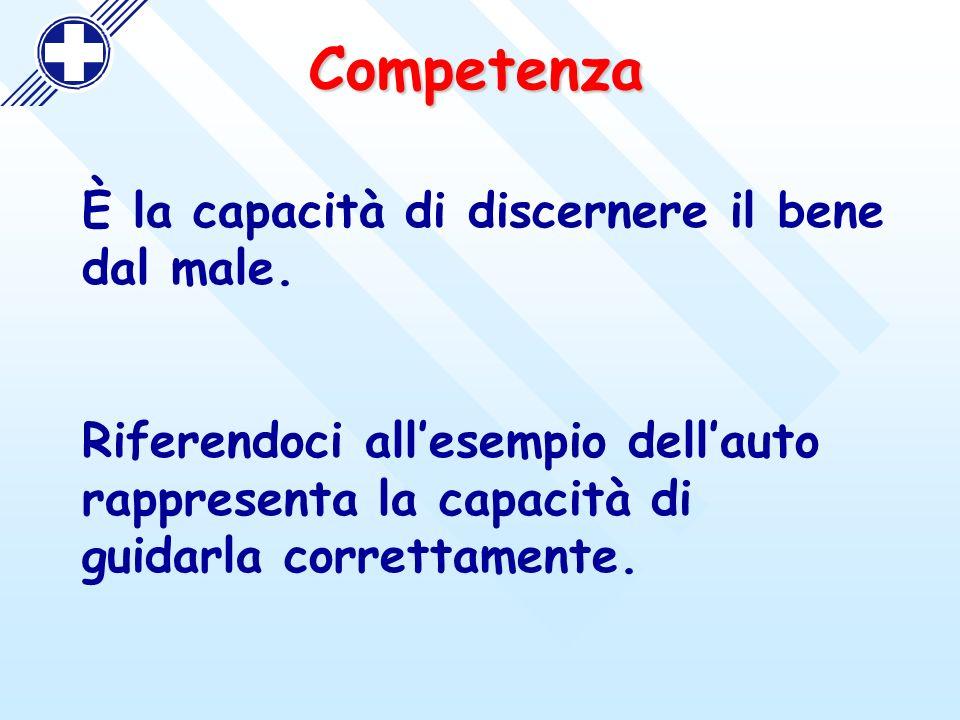 Competenza È la capacità di discernere il bene dal male.