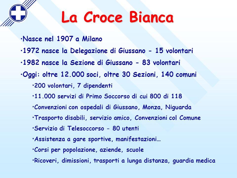 La Croce Bianca Nasce nel 1907 a Milano