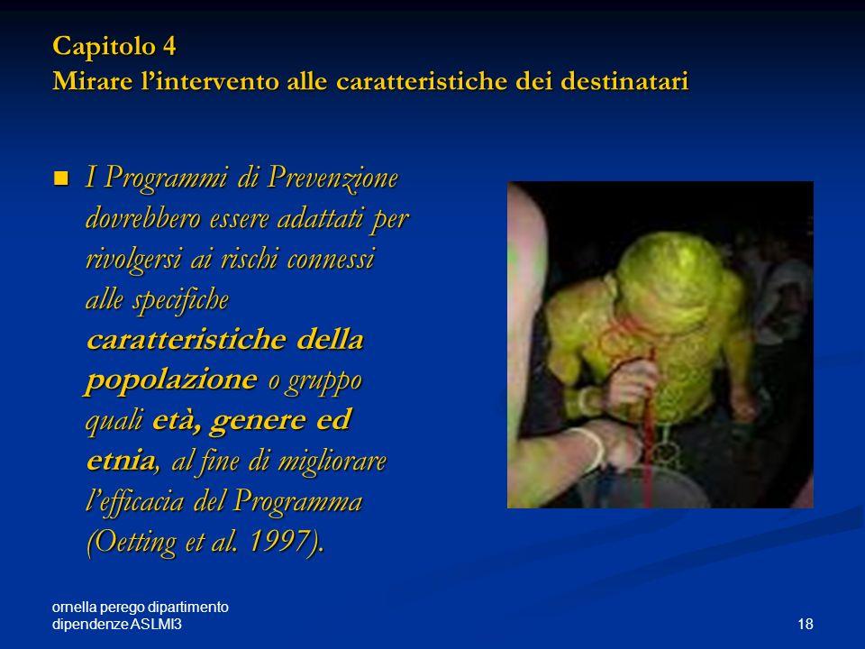 Capitolo 4 Mirare l'intervento alle caratteristiche dei destinatari