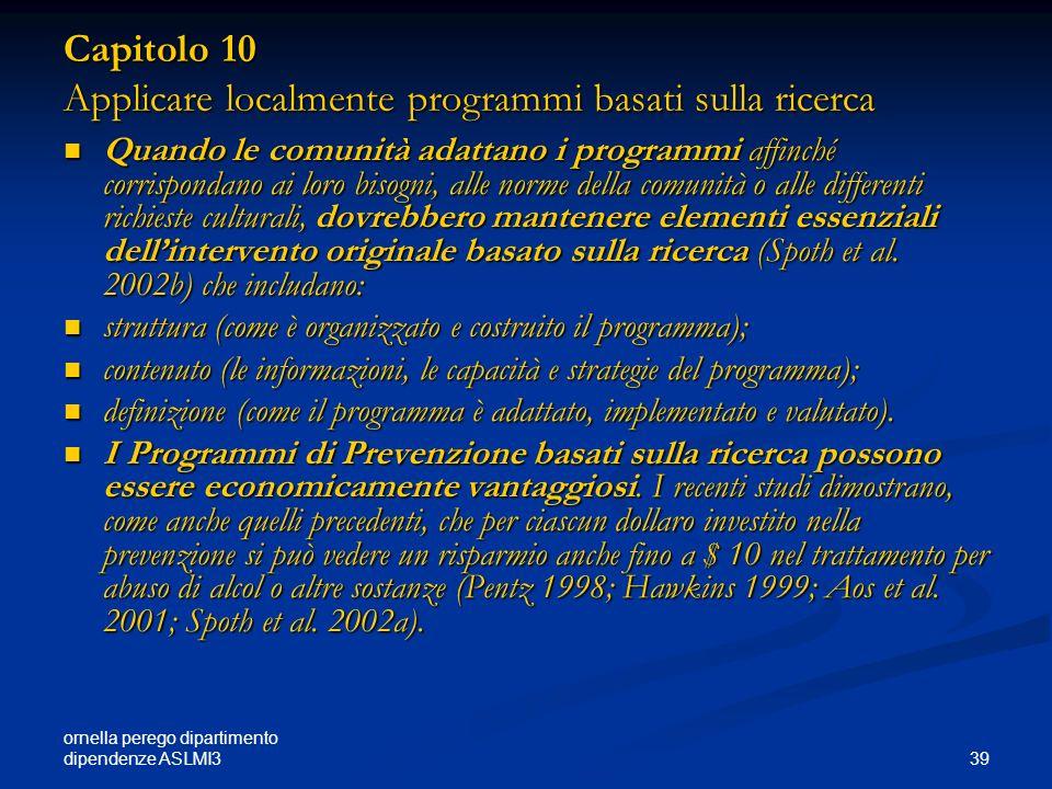 Capitolo 10 Applicare localmente programmi basati sulla ricerca