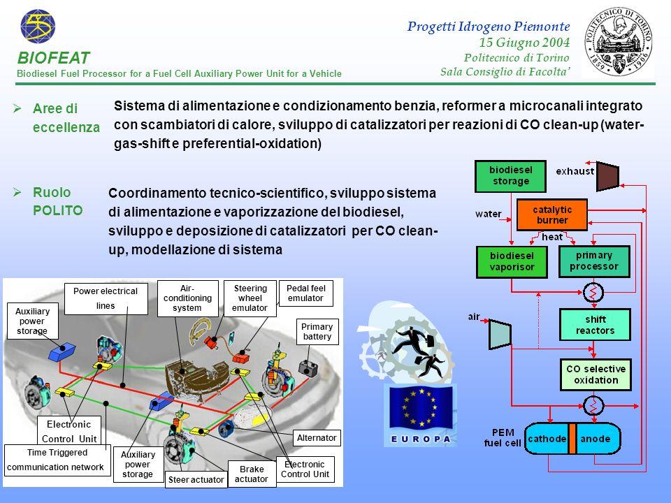 BIOFEAT Progetti Idrogeno Piemonte 15 Giugno 2004