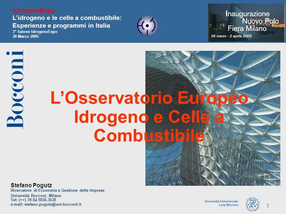 L'Osservatorio Europeo Idrogeno e Celle a Combustibile