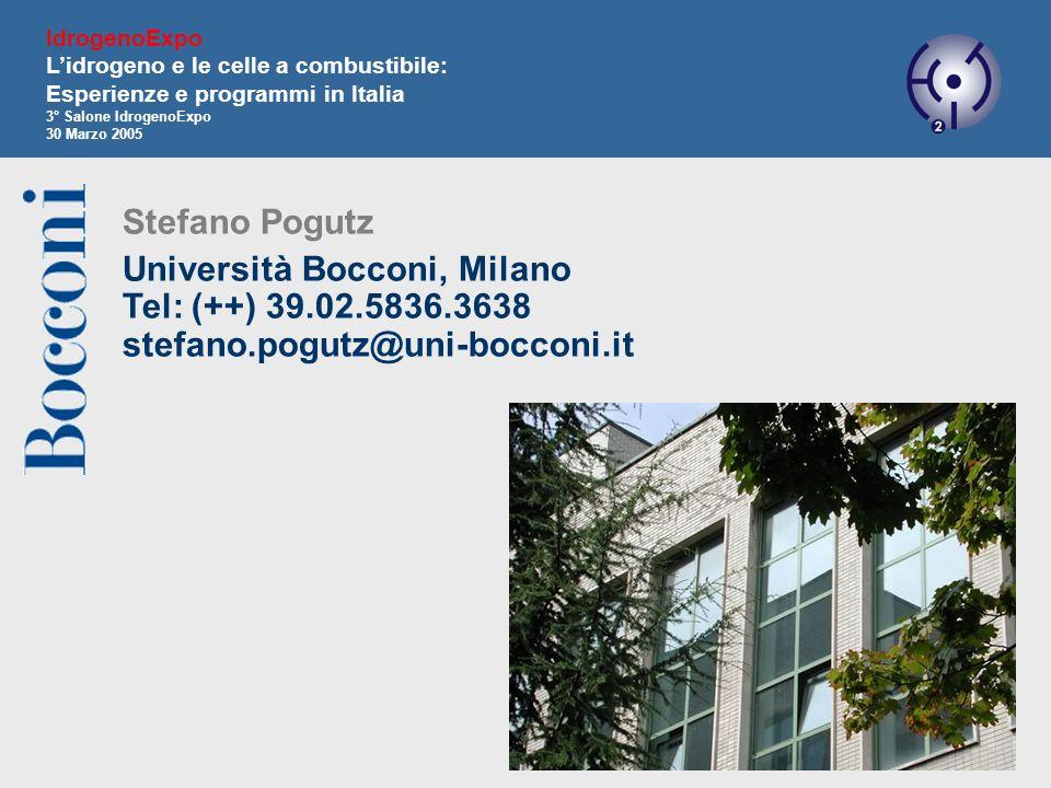 IdrogenoExpo L'idrogeno e le celle a combustibile: Esperienze e programmi in Italia. 3° Salone IdrogenoExpo.