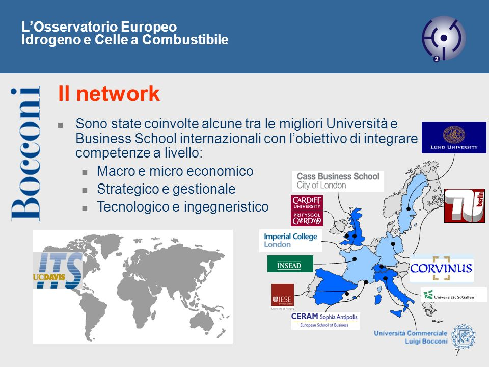 Il network L'Osservatorio Europeo Idrogeno e Celle a Combustibile