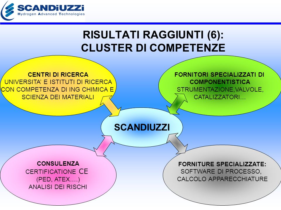 RISULTATI RAGGIUNTI (6): CLUSTER DI COMPETENZE