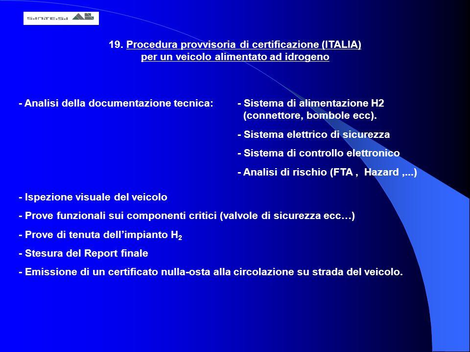 19. Procedura provvisoria di certificazione (ITALIA)