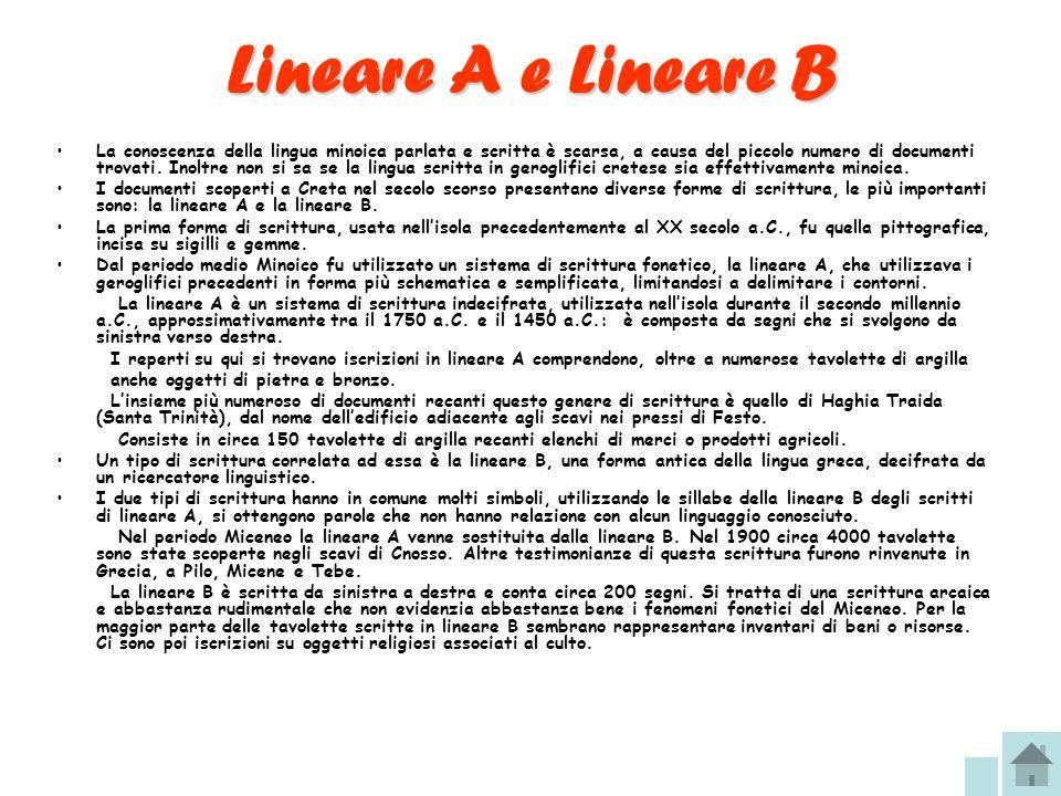 Lineare A e Lineare B