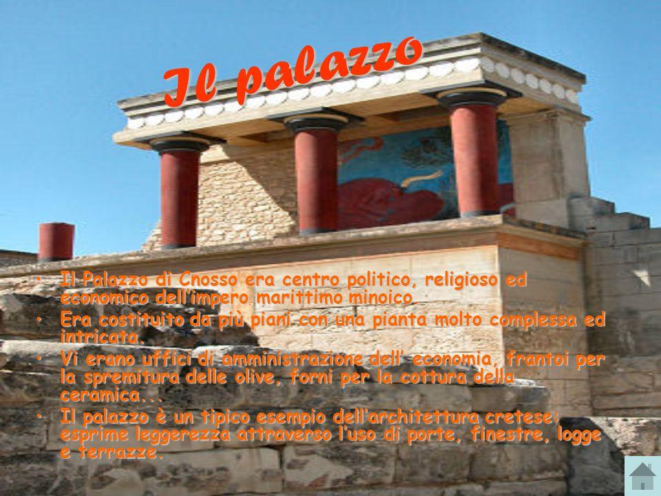 Il palazzo Il Palazzo di Cnosso era centro politico, religioso ed economico dell'impero marittimo minoico.