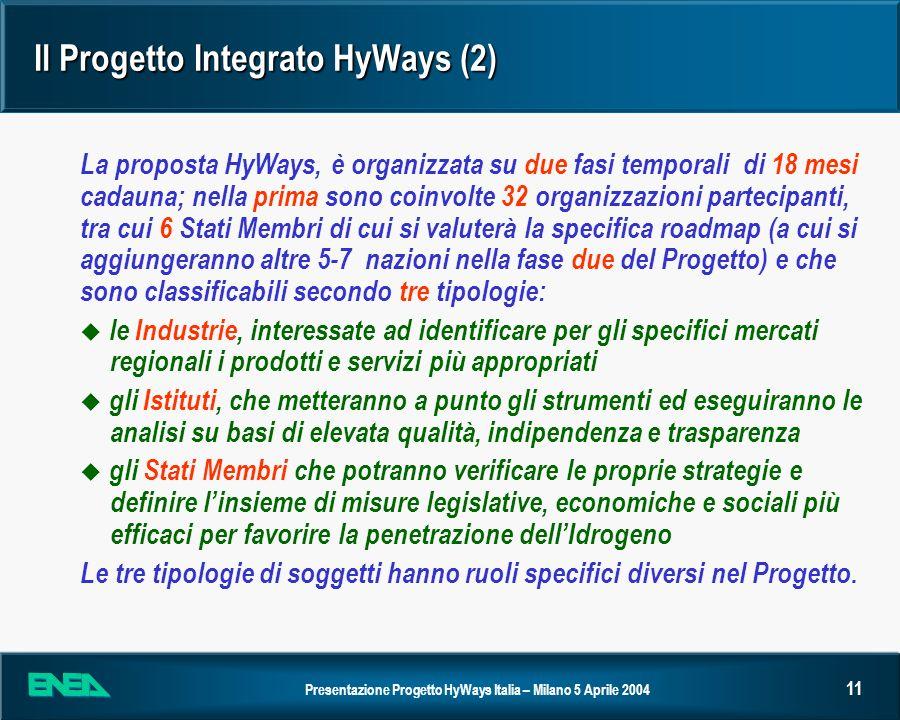 Il Progetto Integrato HyWays (2)