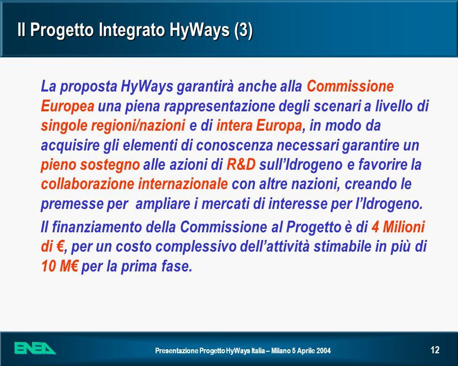 Il Progetto Integrato HyWays (3)