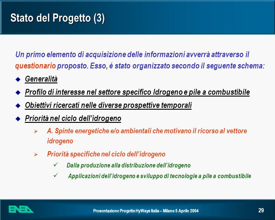 Stato del Progetto (3)