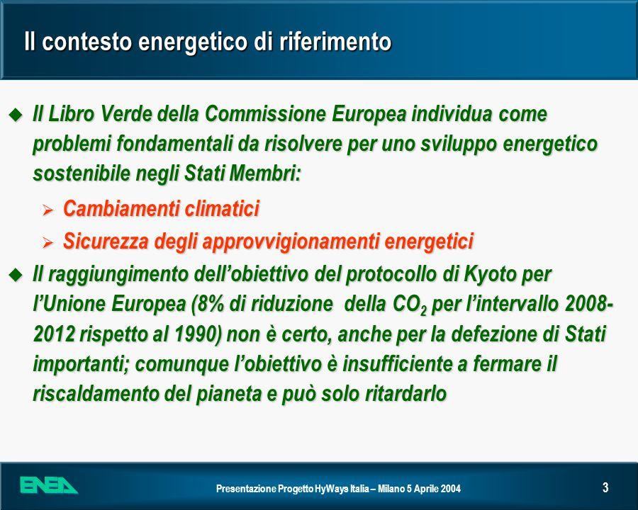 Il contesto energetico di riferimento