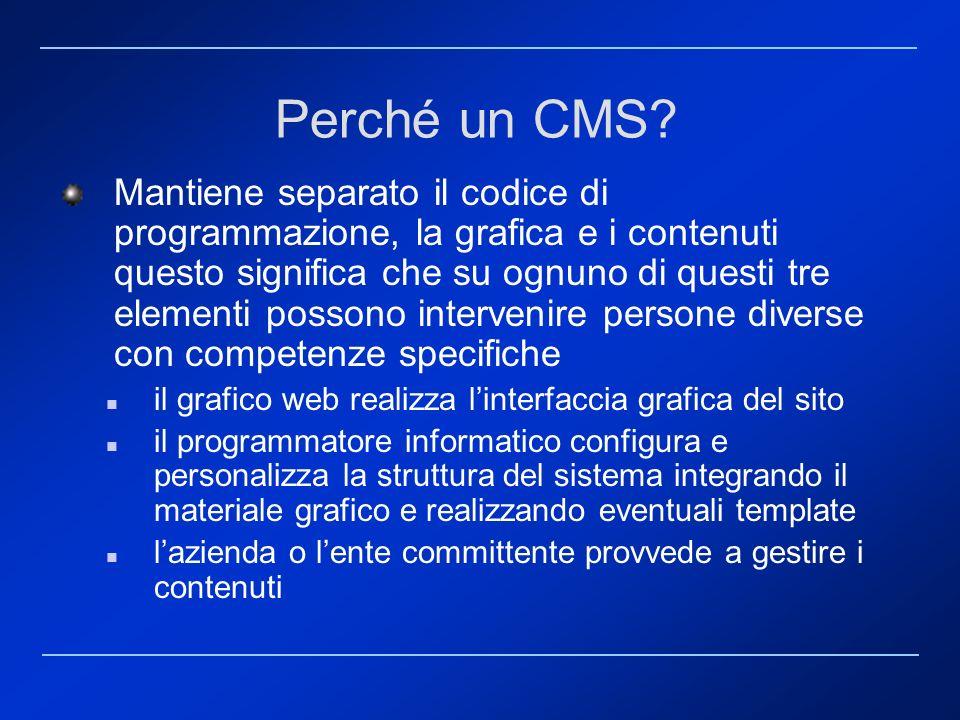 Perché un CMS