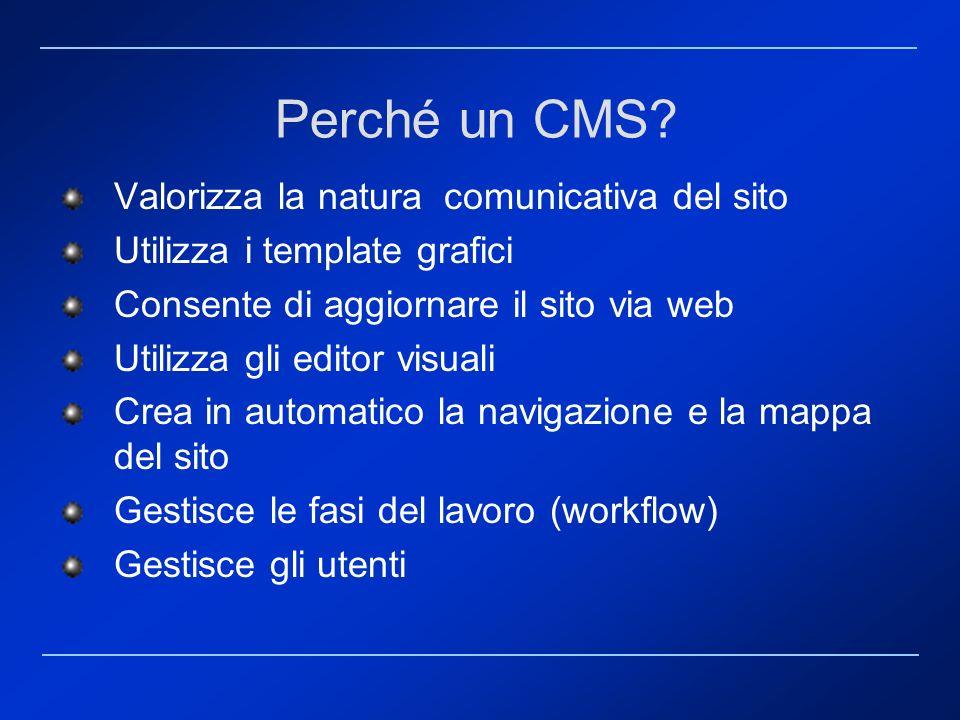 Perché un CMS Valorizza la natura comunicativa del sito