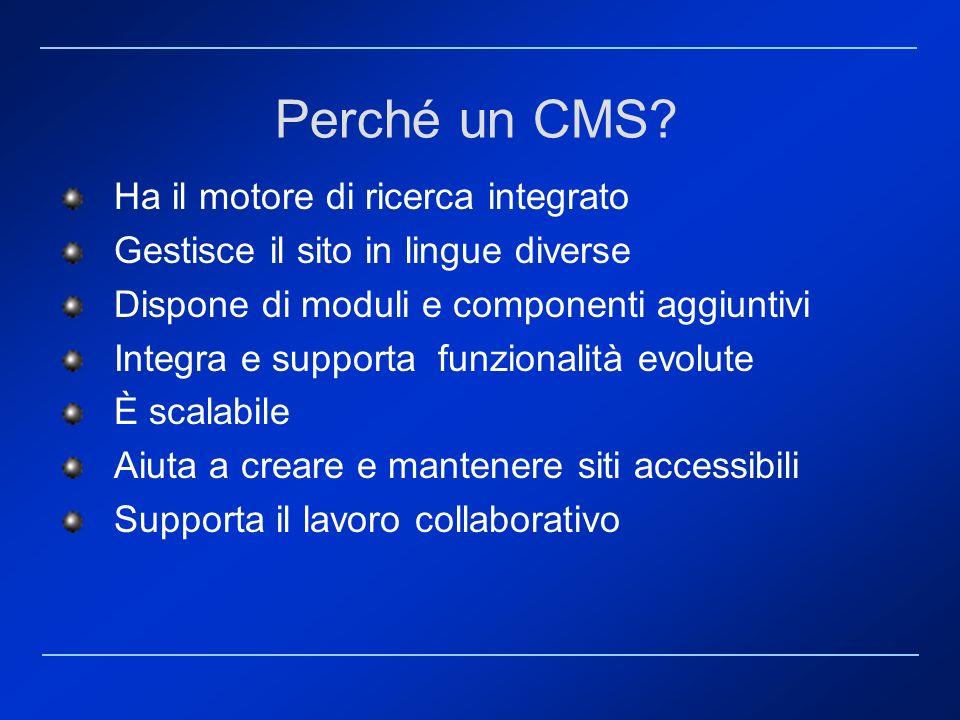 Perché un CMS Ha il motore di ricerca integrato