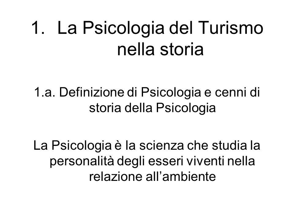 La Psicologia del Turismo nella storia