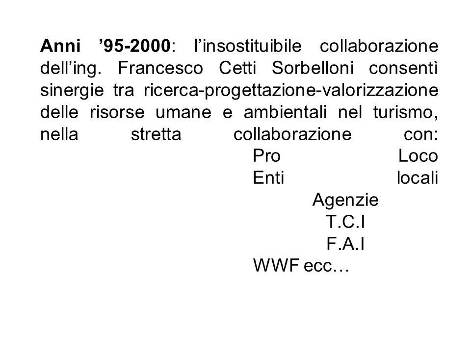 Anni '95-2000: l'insostituibile collaborazione dell'ing