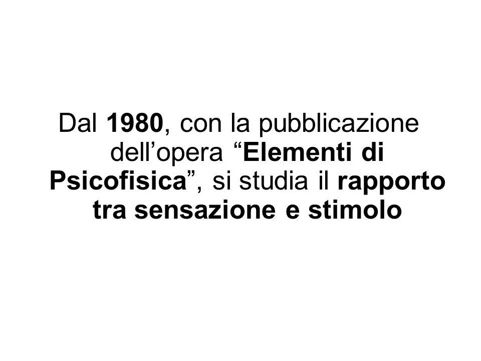 Dal 1980, con la pubblicazione dell'opera Elementi di Psicofisica , si studia il rapporto tra sensazione e stimolo