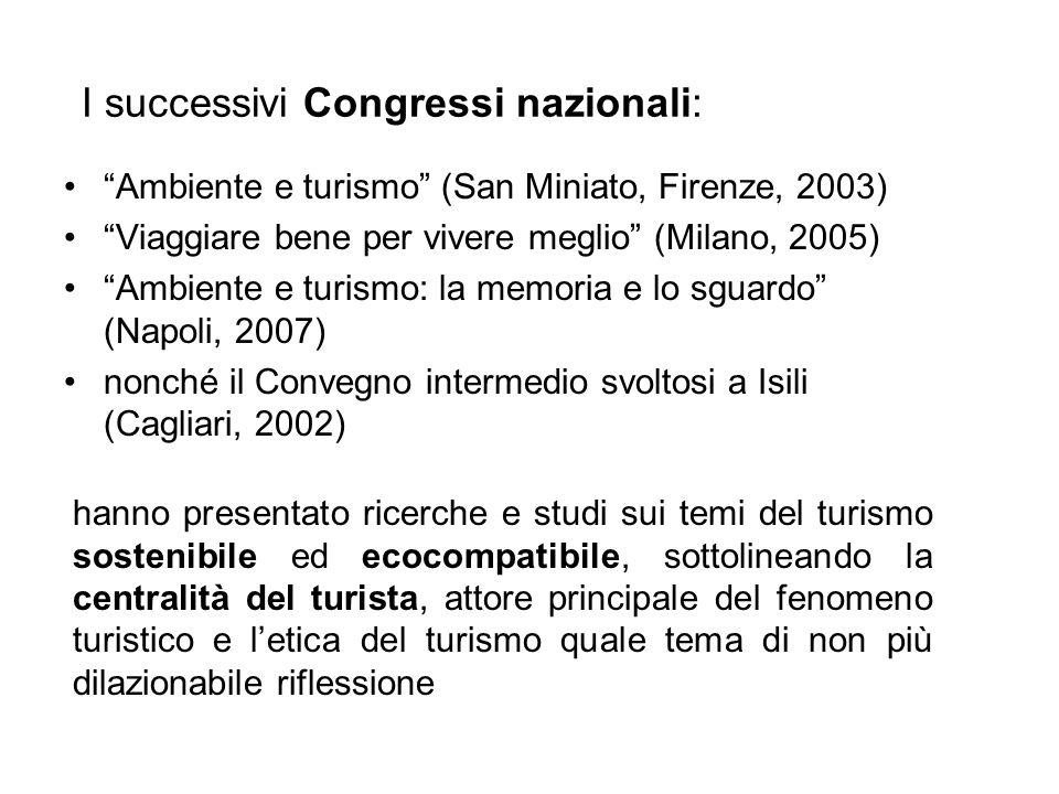 I successivi Congressi nazionali:
