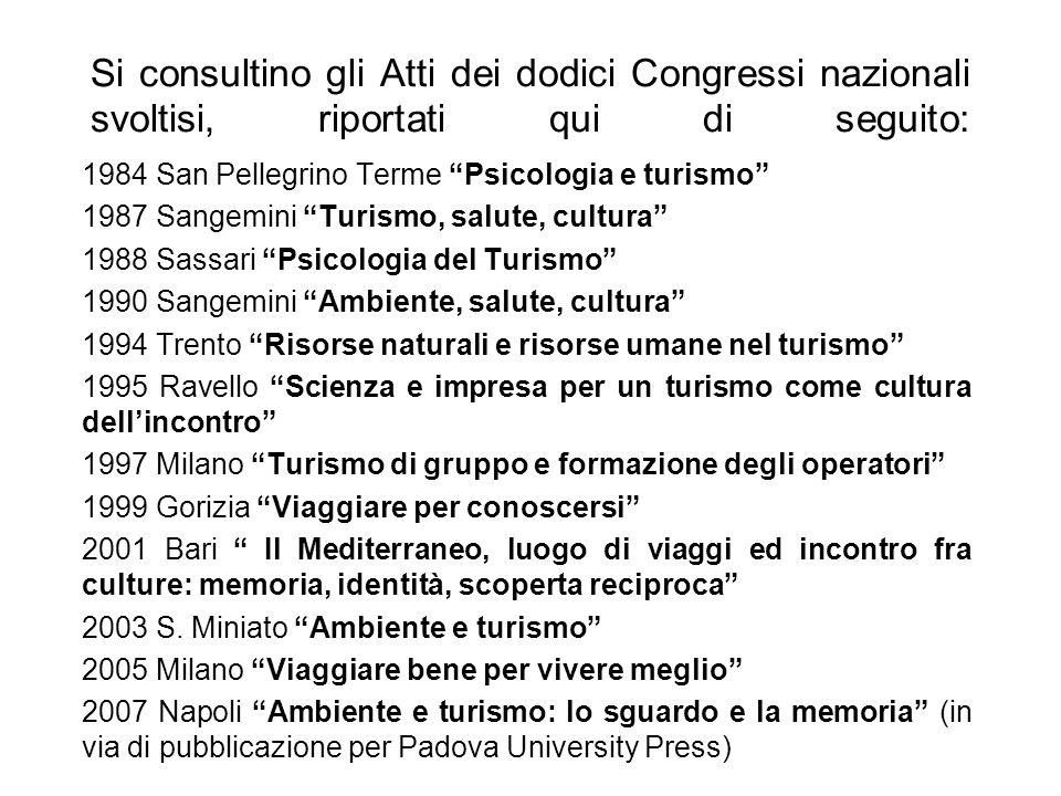 Si consultino gli Atti dei dodici Congressi nazionali svoltisi, riportati qui di seguito: